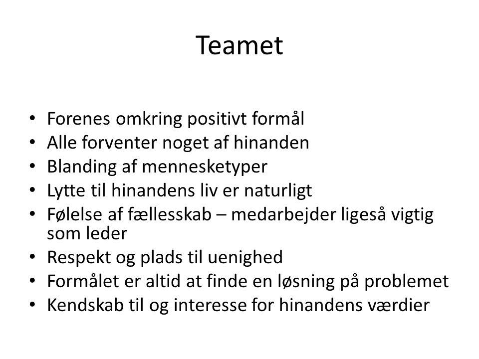 Teamet Forenes omkring positivt formål