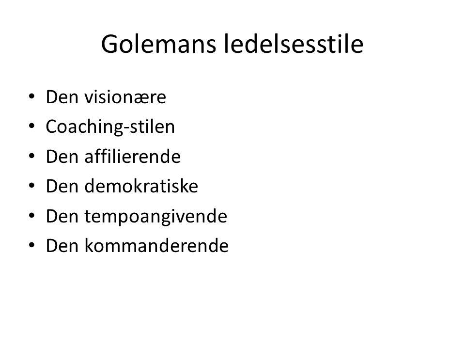 Golemans ledelsesstile