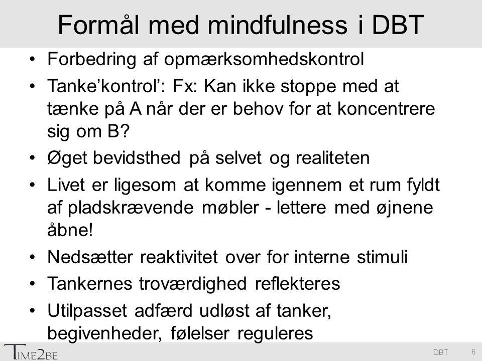 Formål med mindfulness i DBT
