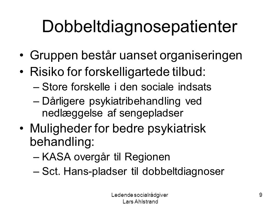 Dobbeltdiagnosepatienter
