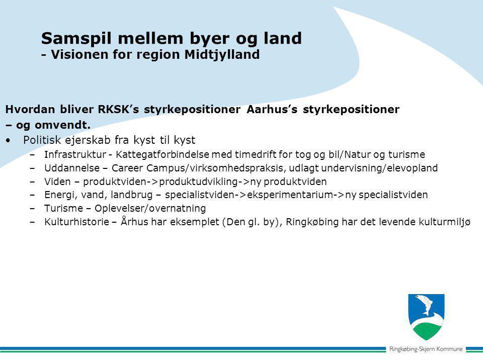 Samspil mellem byer og land - Visionen for region Midtjylland