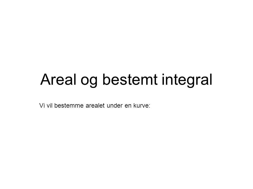 Areal og bestemt integral
