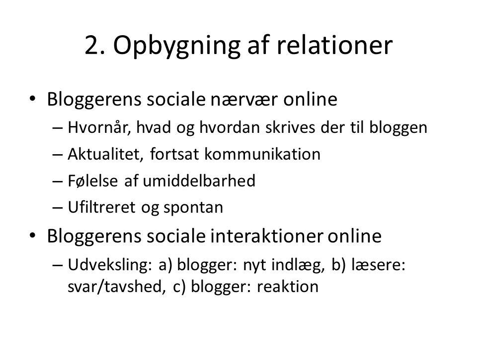 2. Opbygning af relationer