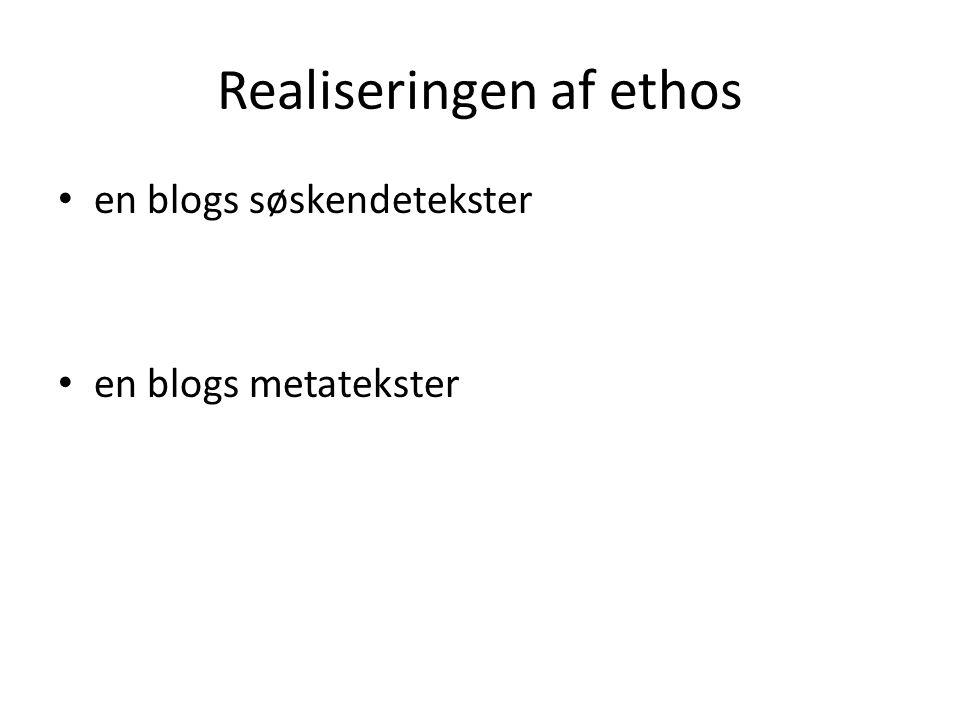 Realiseringen af ethos
