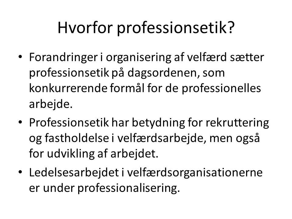 Hvorfor professionsetik