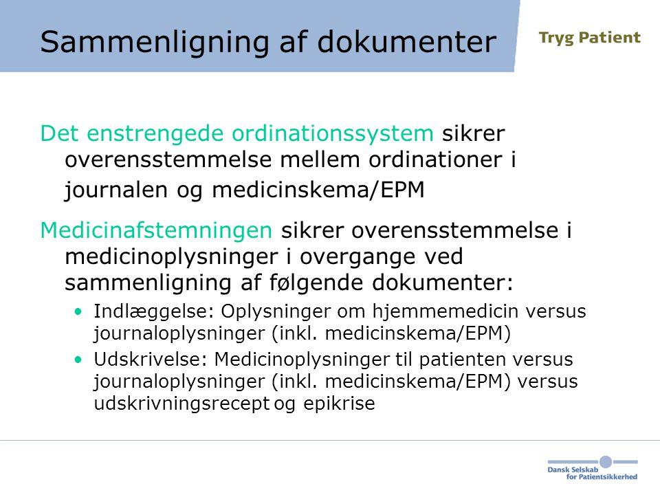 Sammenligning af dokumenter