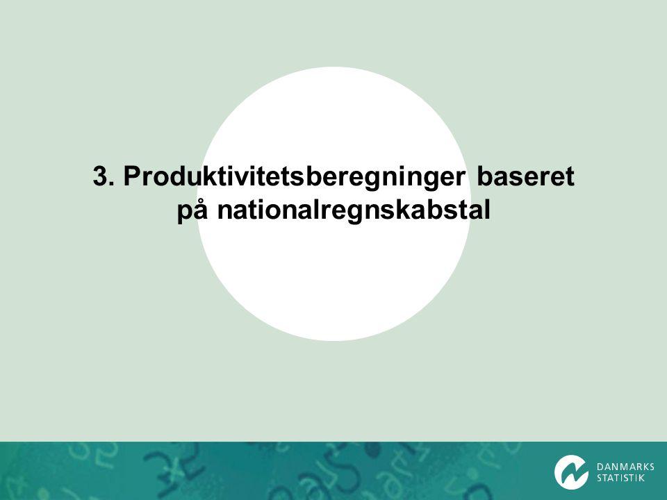 3. Produktivitetsberegninger baseret på nationalregnskabstal