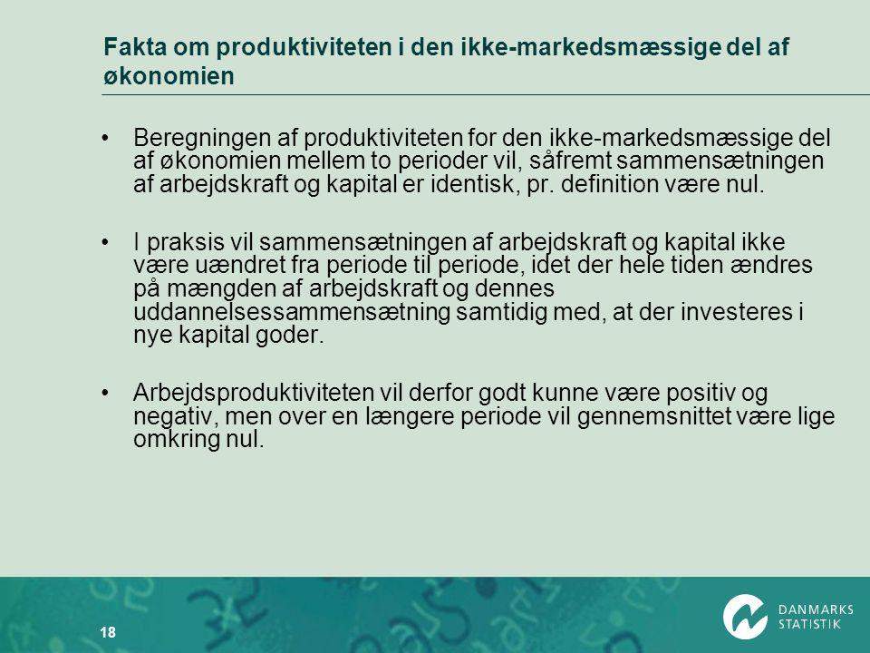 Fakta om produktiviteten i den ikke-markedsmæssige del af økonomien