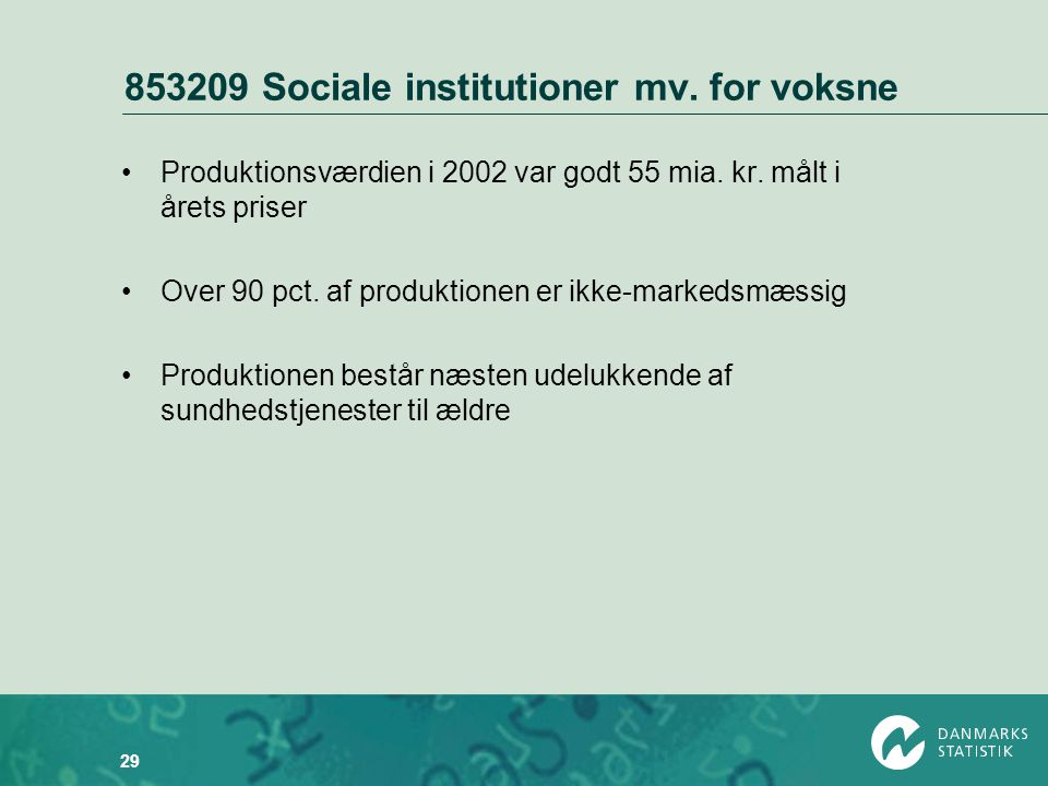 853209 Sociale institutioner mv. for voksne