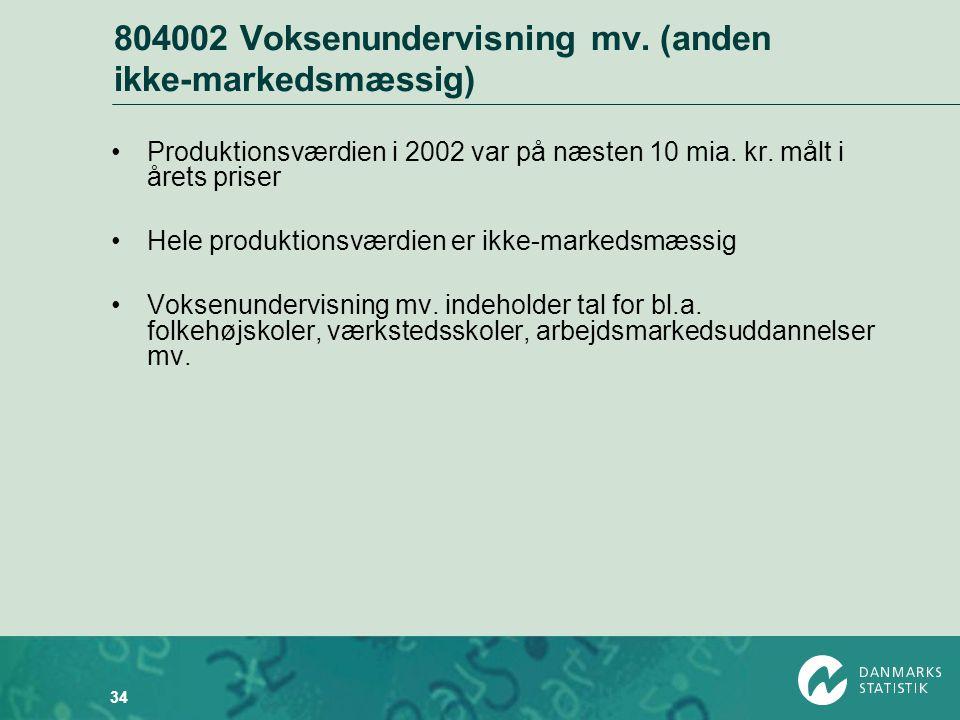 804002 Voksenundervisning mv. (anden ikke-markedsmæssig)