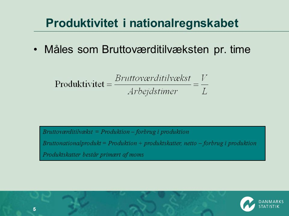 Produktivitet i nationalregnskabet