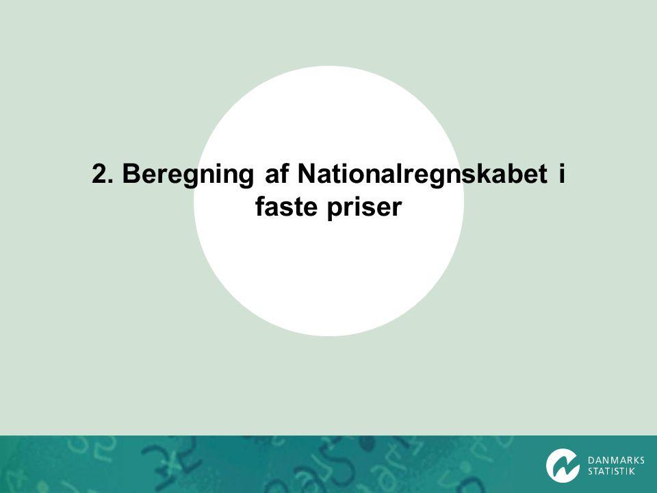 2. Beregning af Nationalregnskabet i faste priser