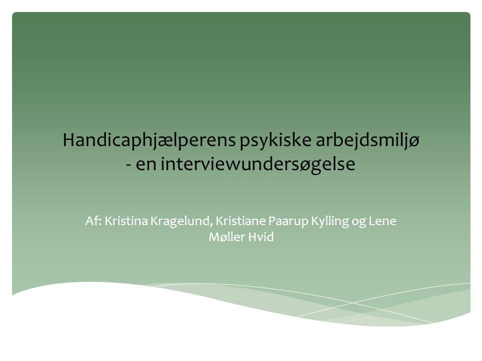 Handicaphjælperens psykiske arbejdsmiljø - en interviewundersøgelse