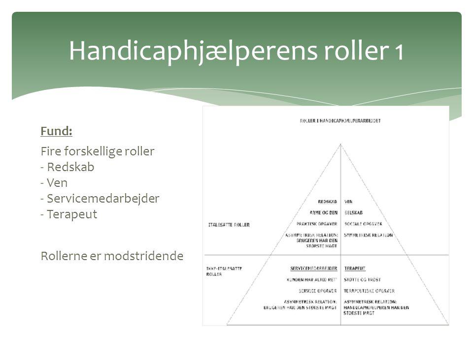 Handicaphjælperens roller 1