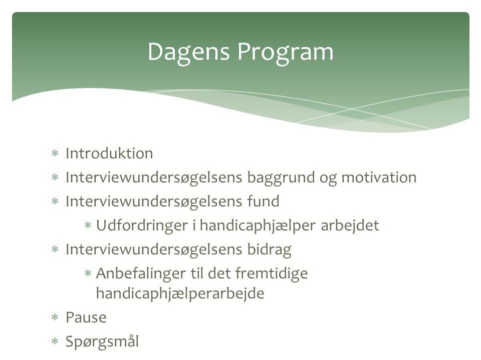 Dagens Program Introduktion