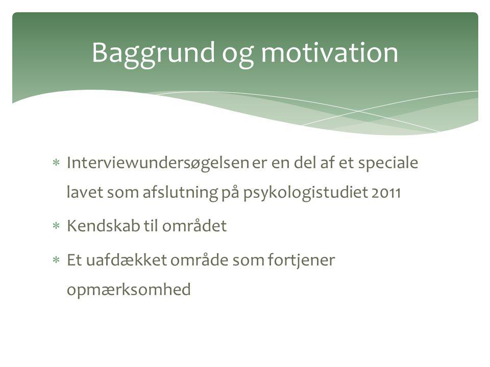 Baggrund og motivation