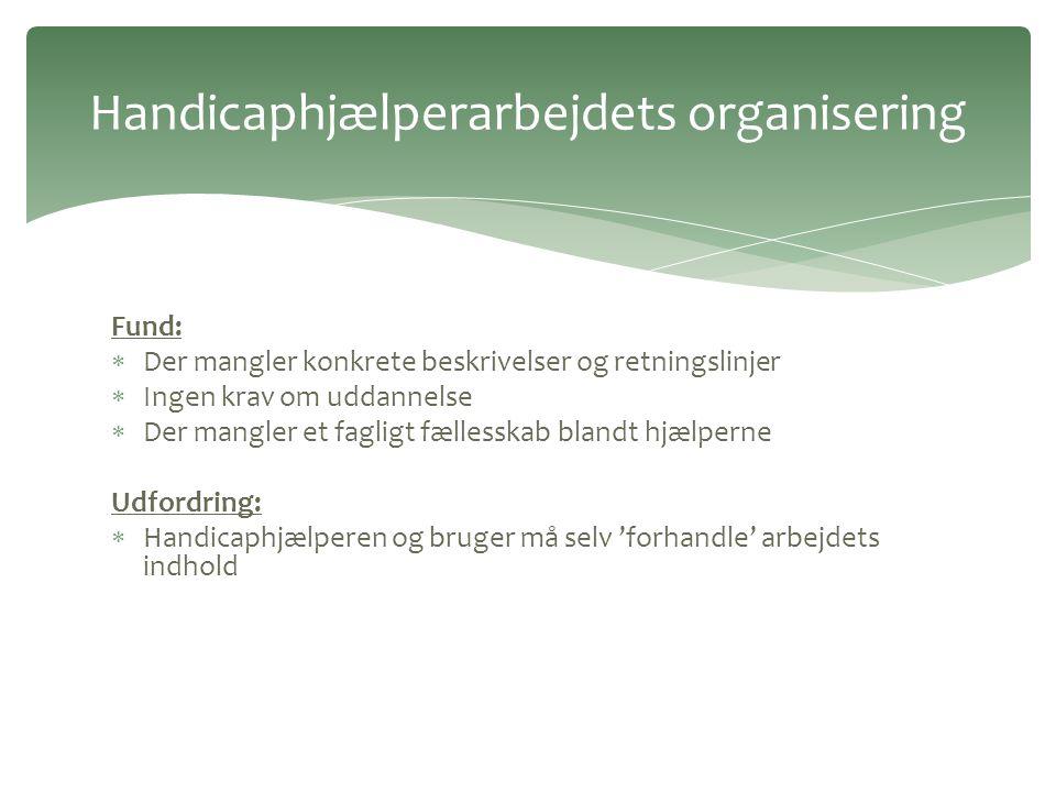 Handicaphjælperarbejdets organisering