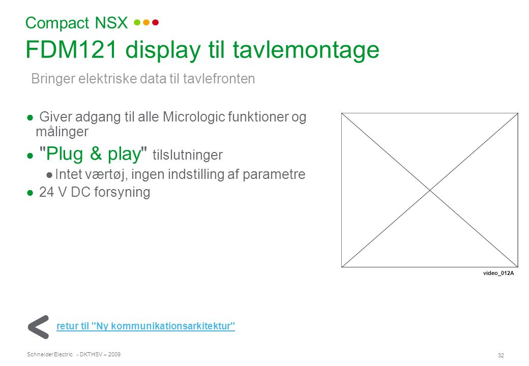 FDM121 display til tavlemontage