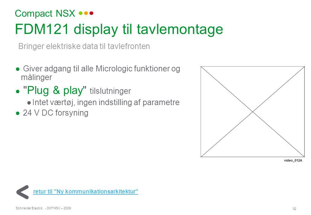 FDM121 display til tavlemontage