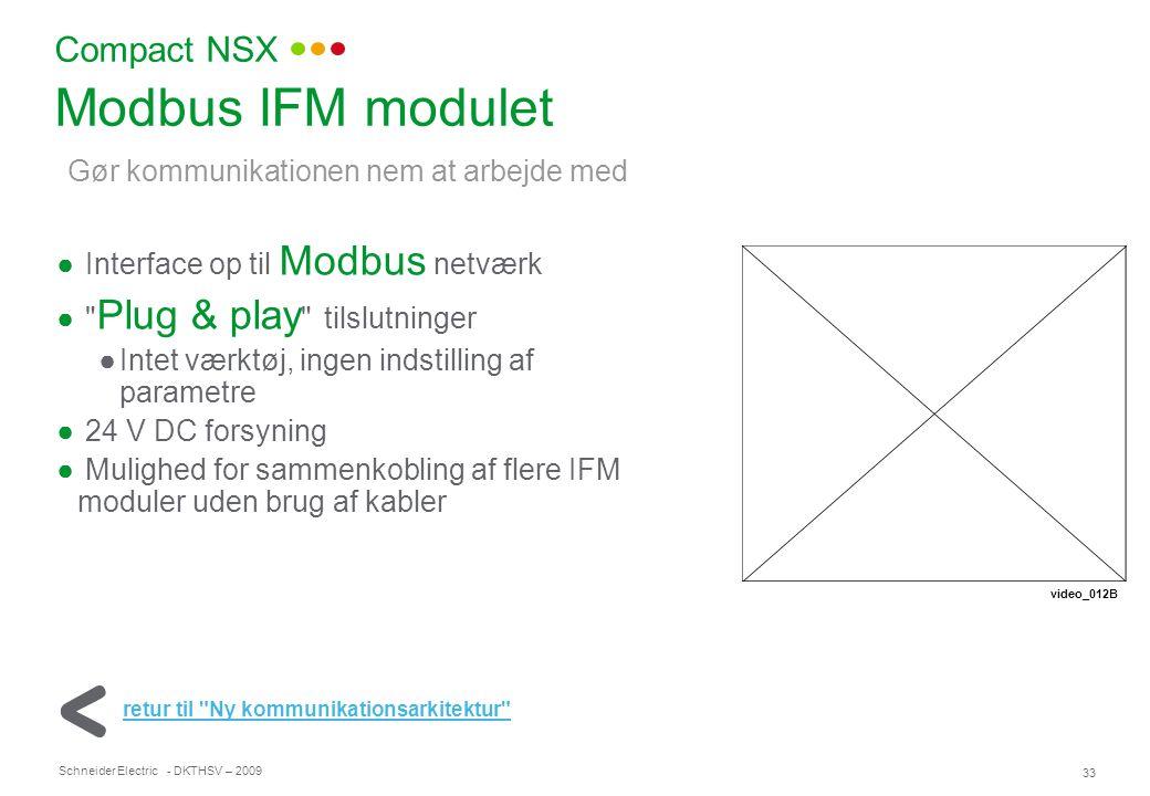 Modbus IFM modulet Compact NSX Gør kommunikationen nem at arbejde med