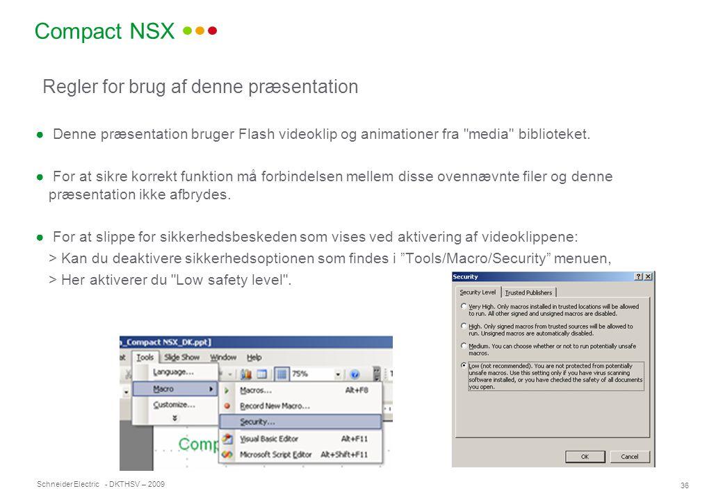 Compact NSX Regler for brug af denne præsentation