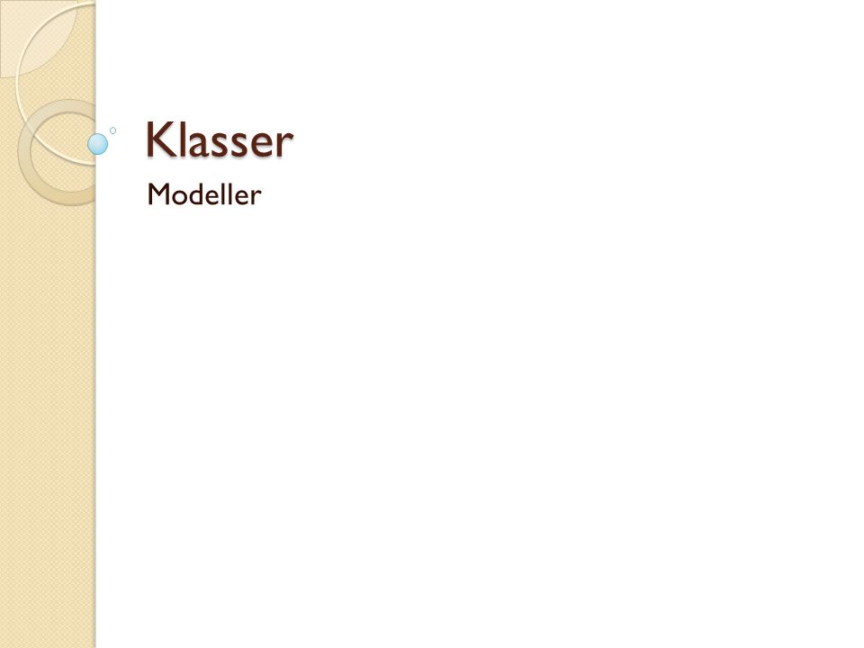 Klasser Modeller