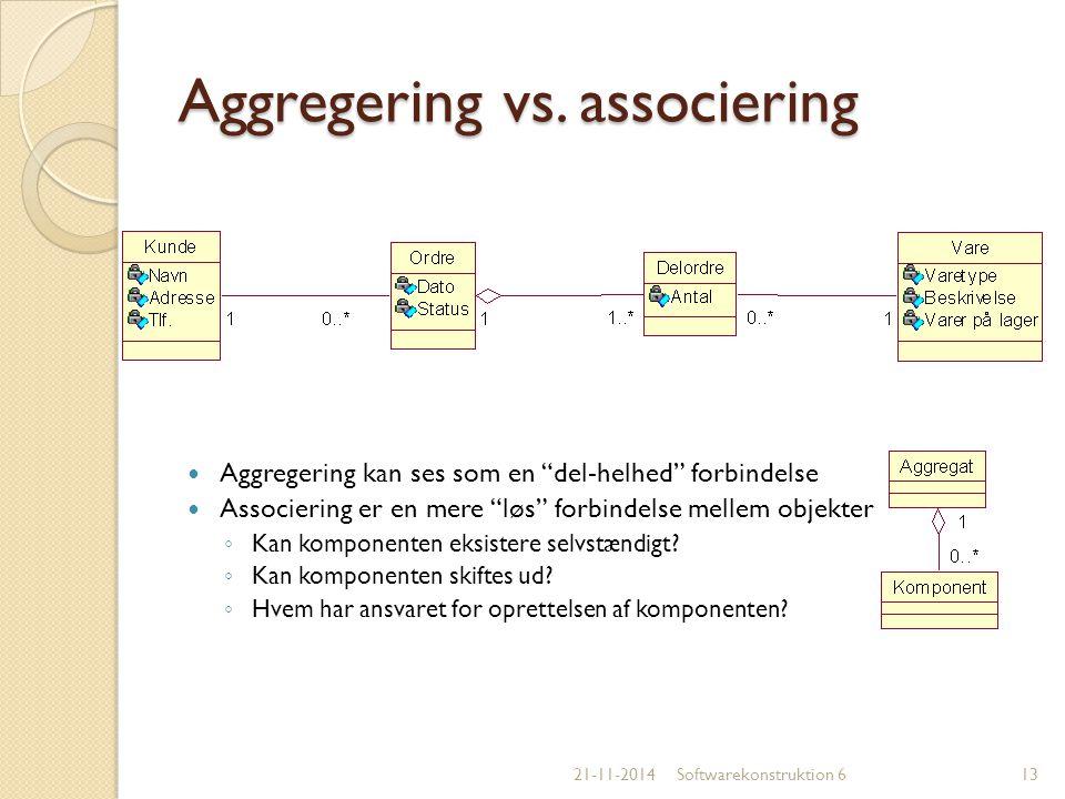 Aggregering vs. associering
