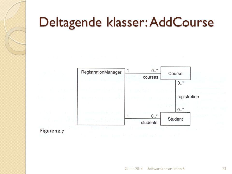 Deltagende klasser: AddCourse