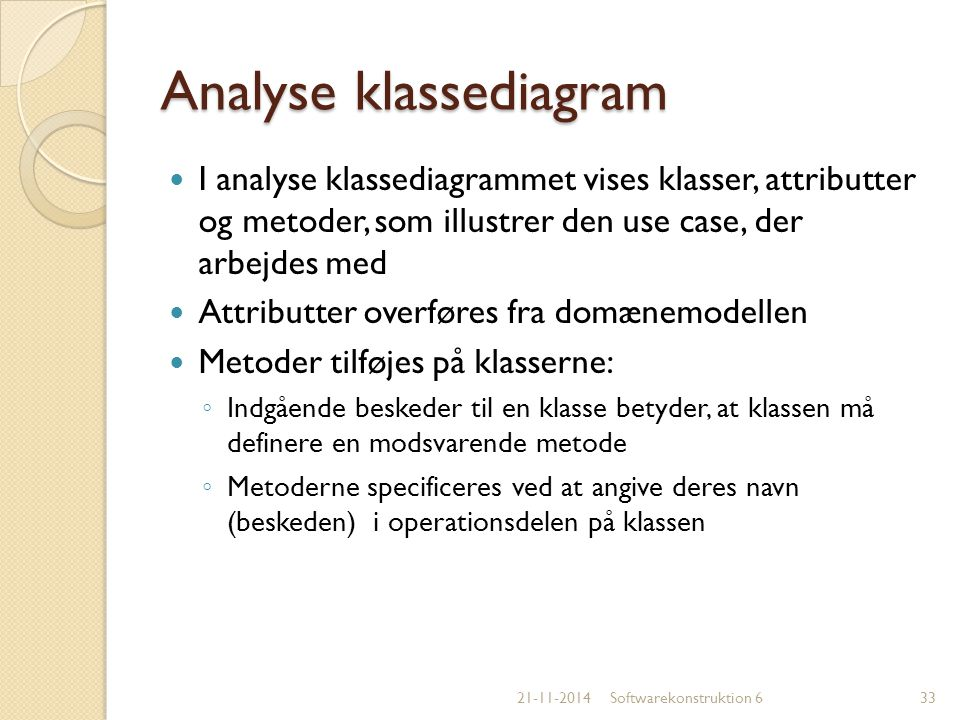 Analyse klassediagram