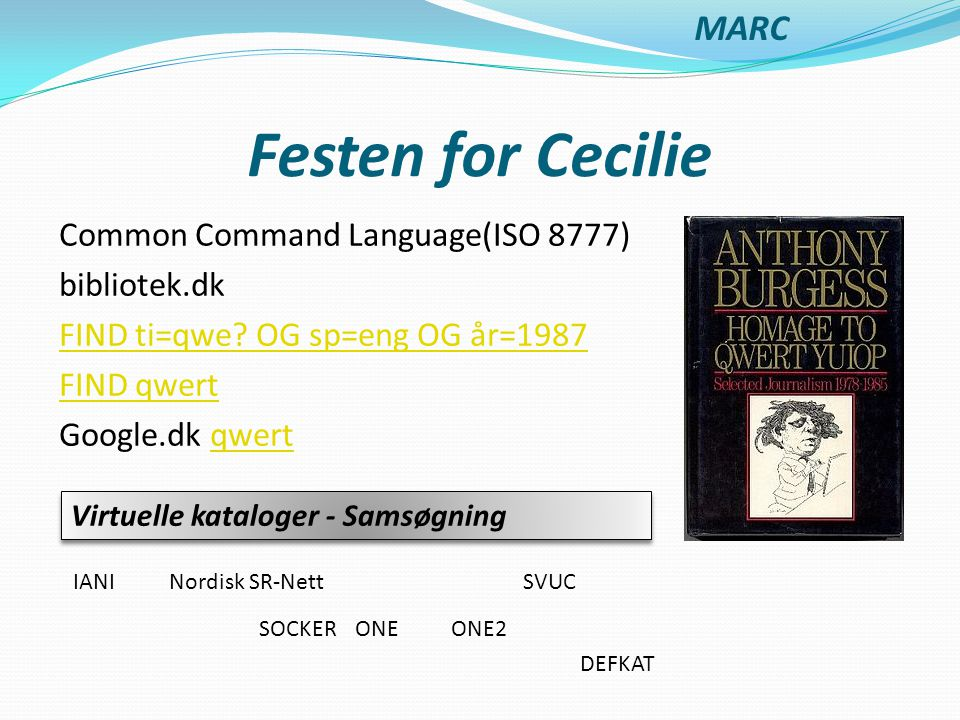 Festen for Cecilie MARC