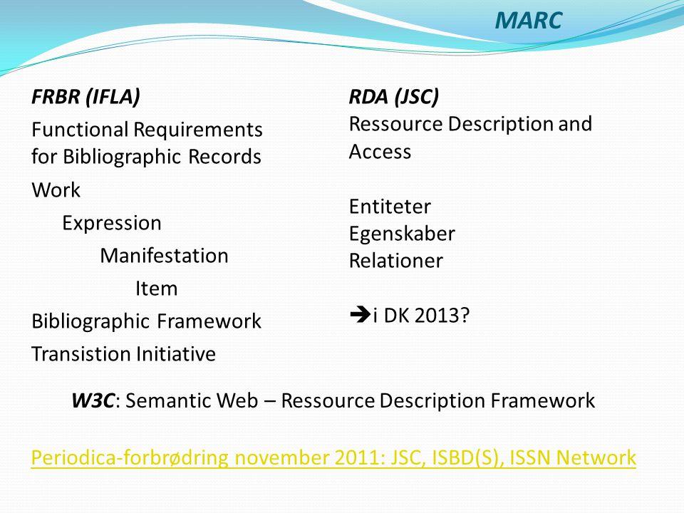 W3C: Semantic Web – Ressource Description Framework