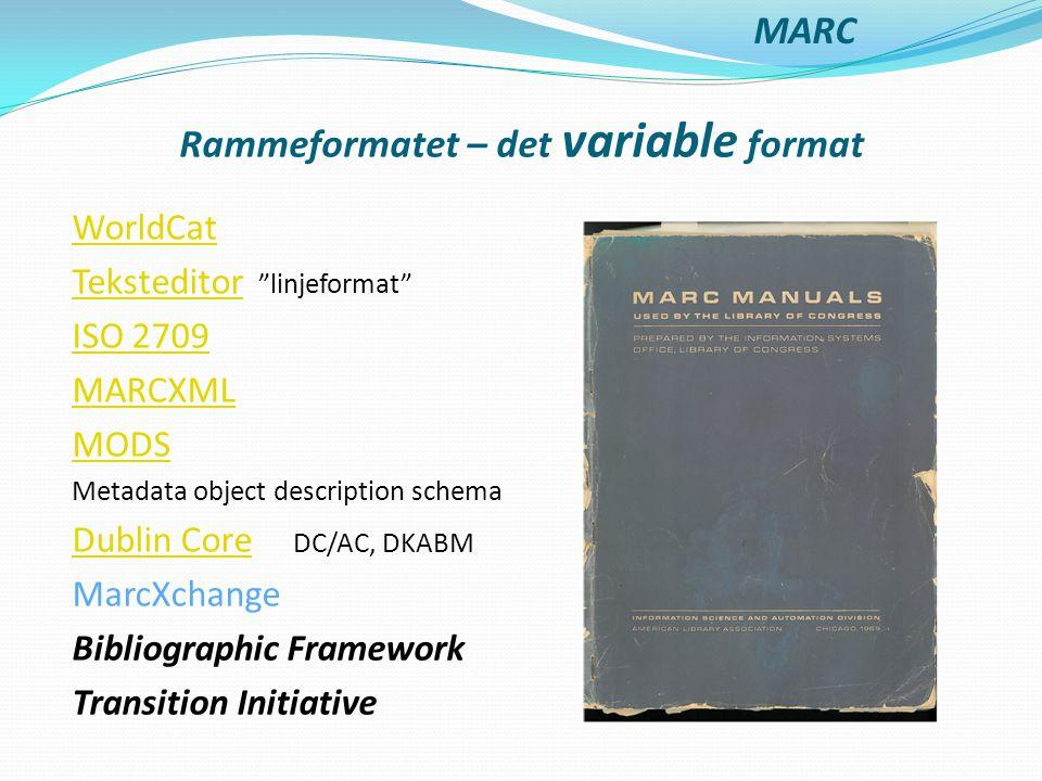 Rammeformatet – det variable format