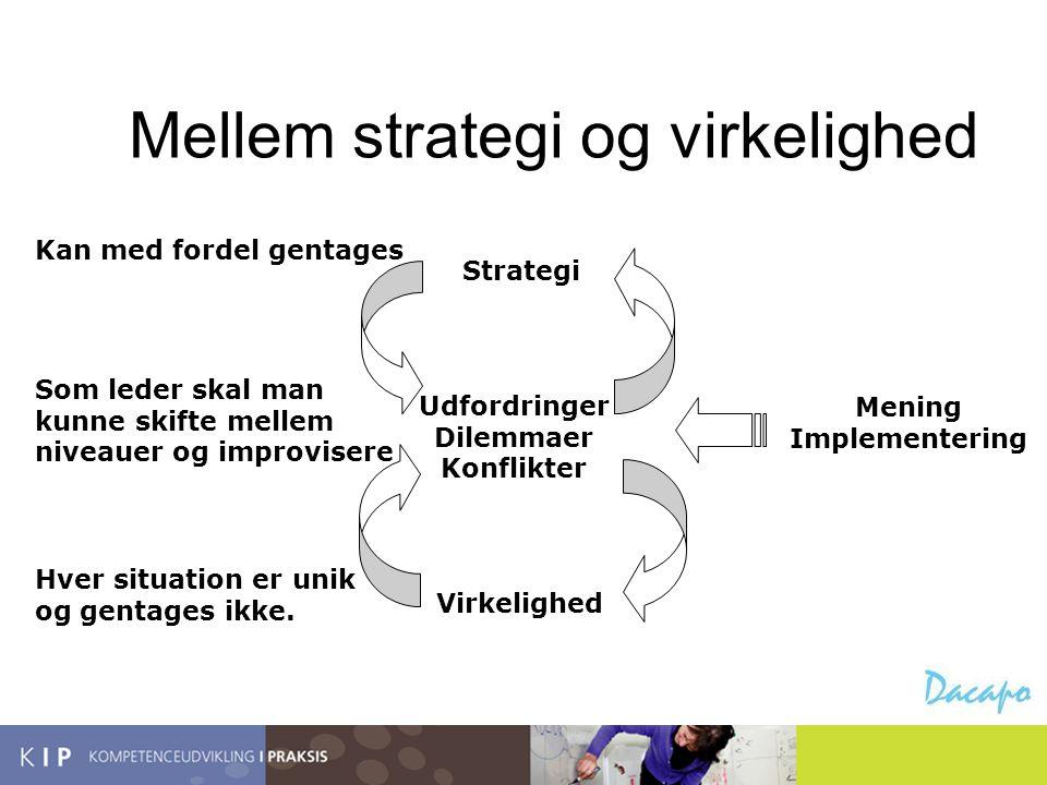 Mellem strategi og virkelighed