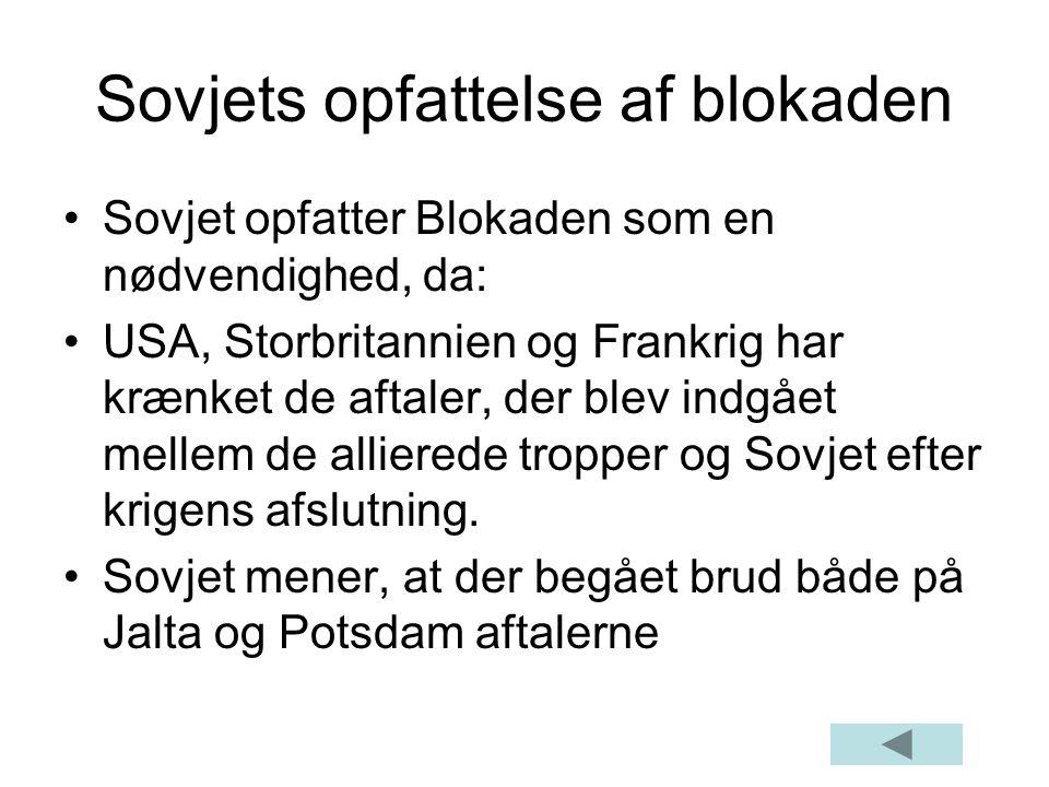 Sovjets opfattelse af blokaden
