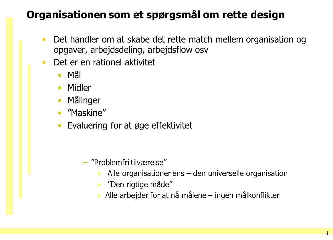 Organisationen som et spørgsmål om rette design