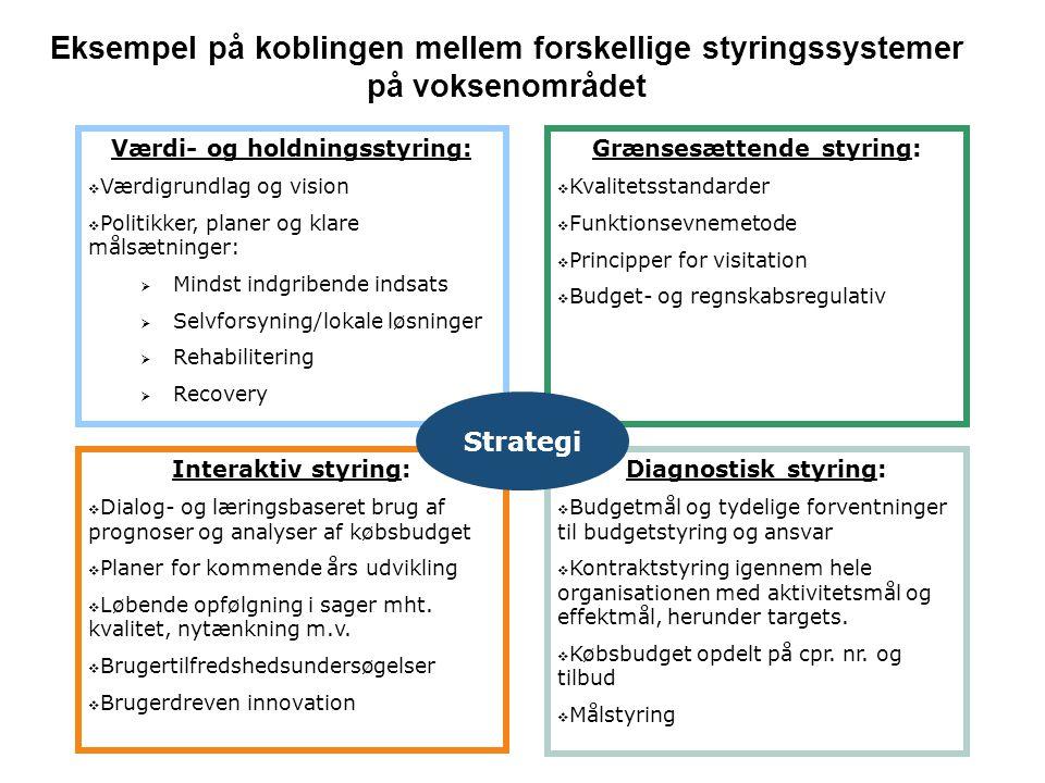 Værdi- og holdningsstyring: Grænsesættende styring: