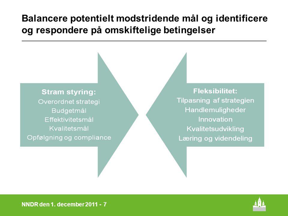 Balancere potentielt modstridende mål og identificere og respondere på omskiftelige betingelser