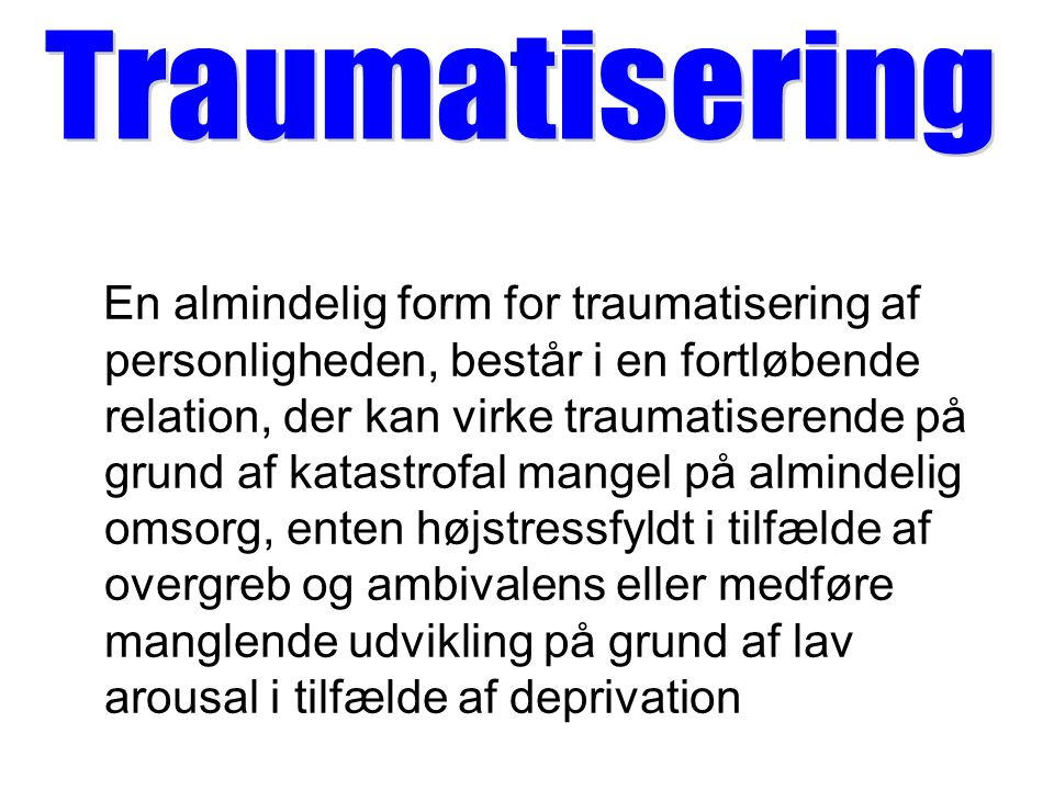 sekundær traumatisering definition