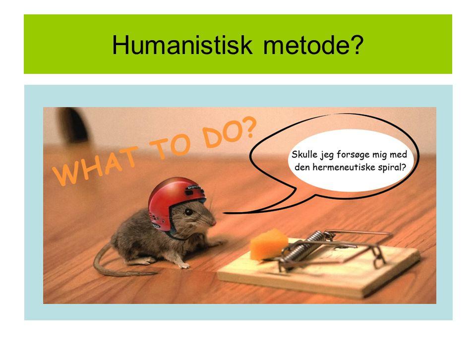 Humanistisk metode