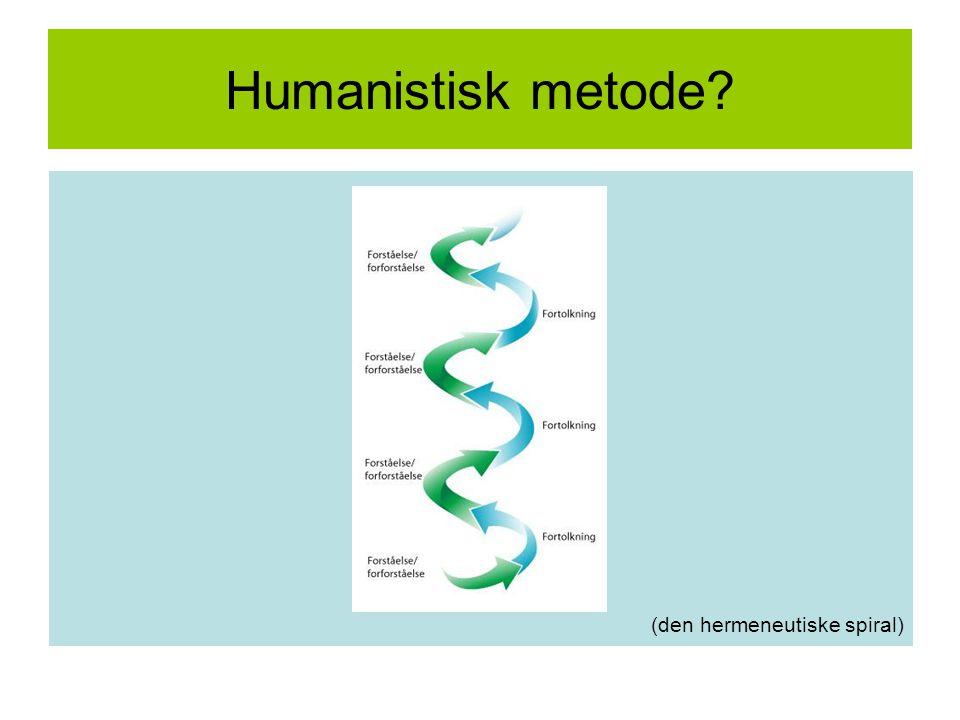 Humanistisk metode (den hermeneutiske spiral)
