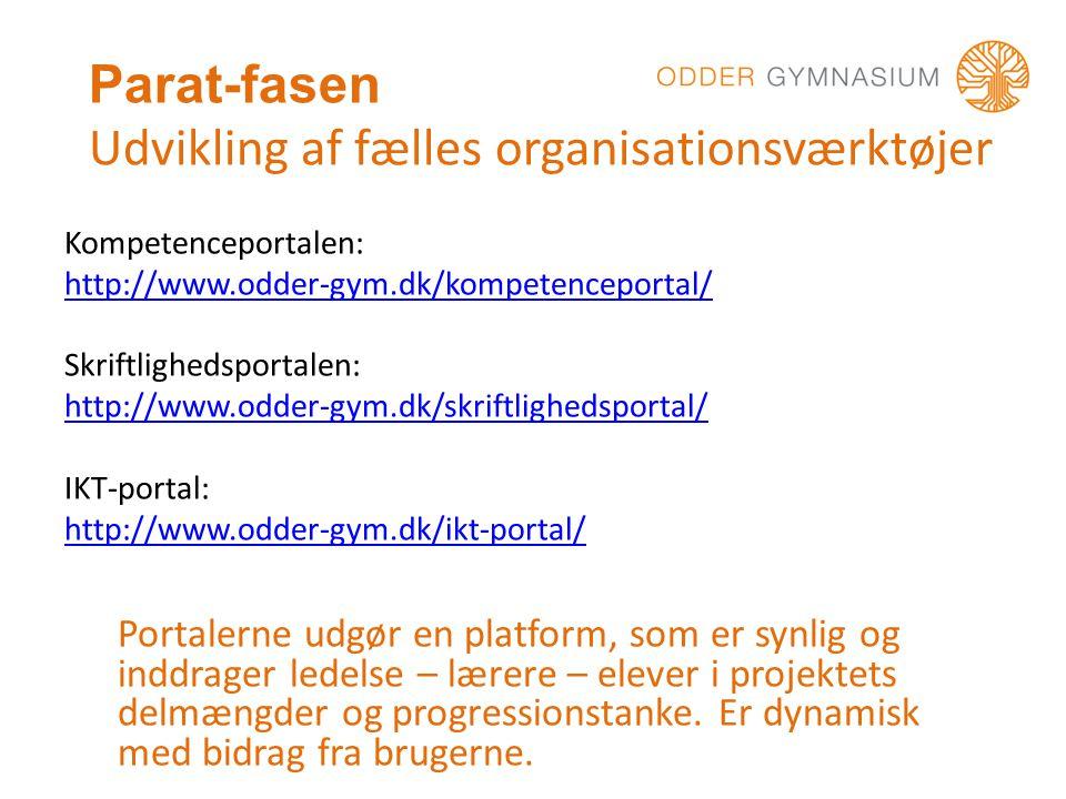 Parat-fasen Udvikling af fælles organisationsværktøjer