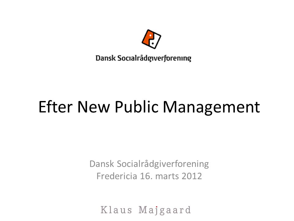 Efter New Public Management