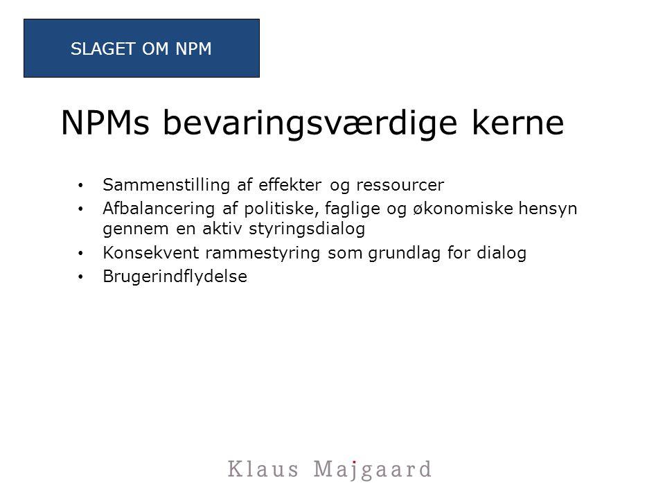 NPMs bevaringsværdige kerne