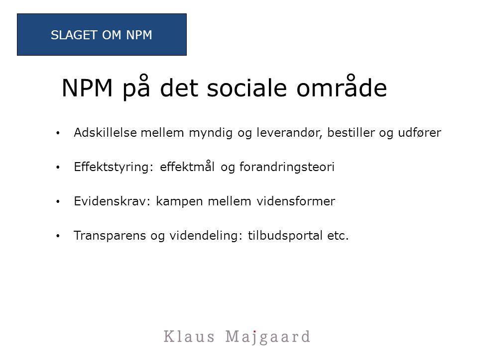 NPM på det sociale område