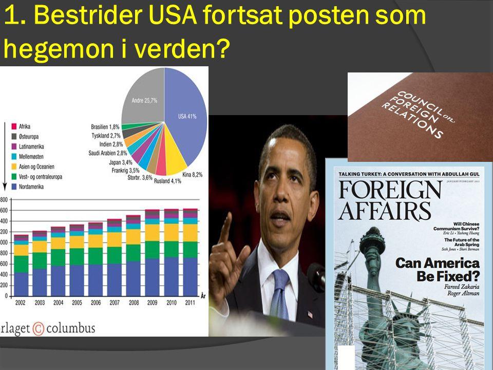 1. Bestrider USA fortsat posten som hegemon i verden
