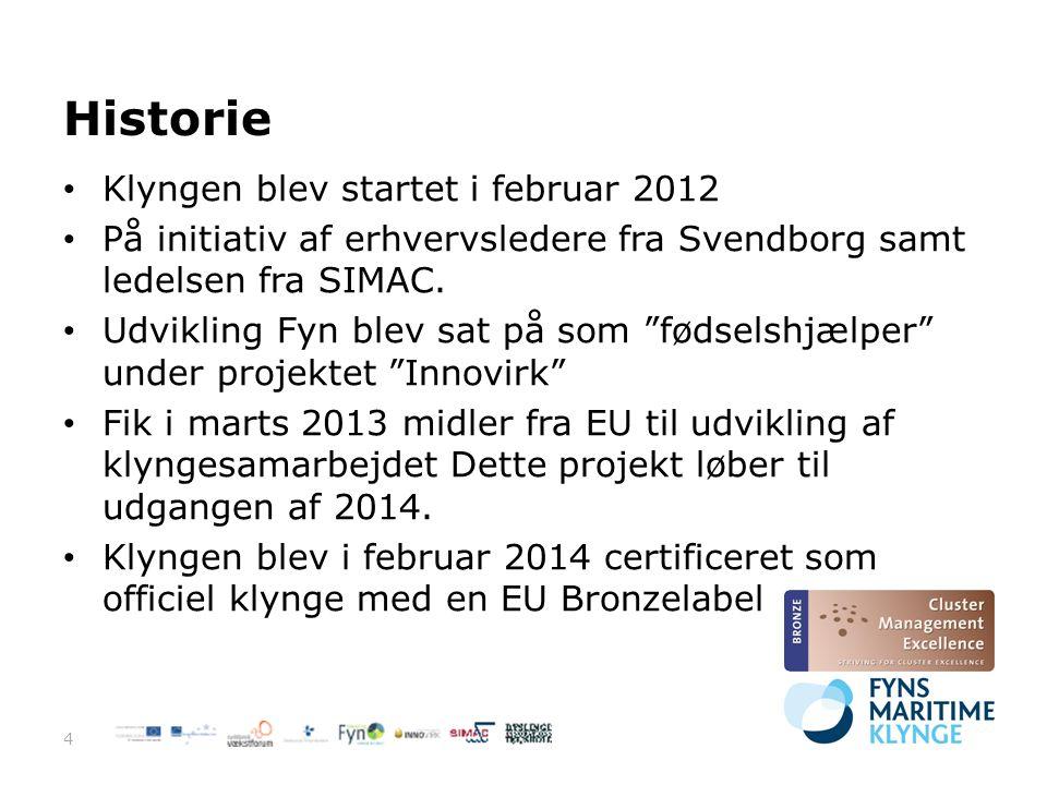 Historie Klyngen blev startet i februar 2012