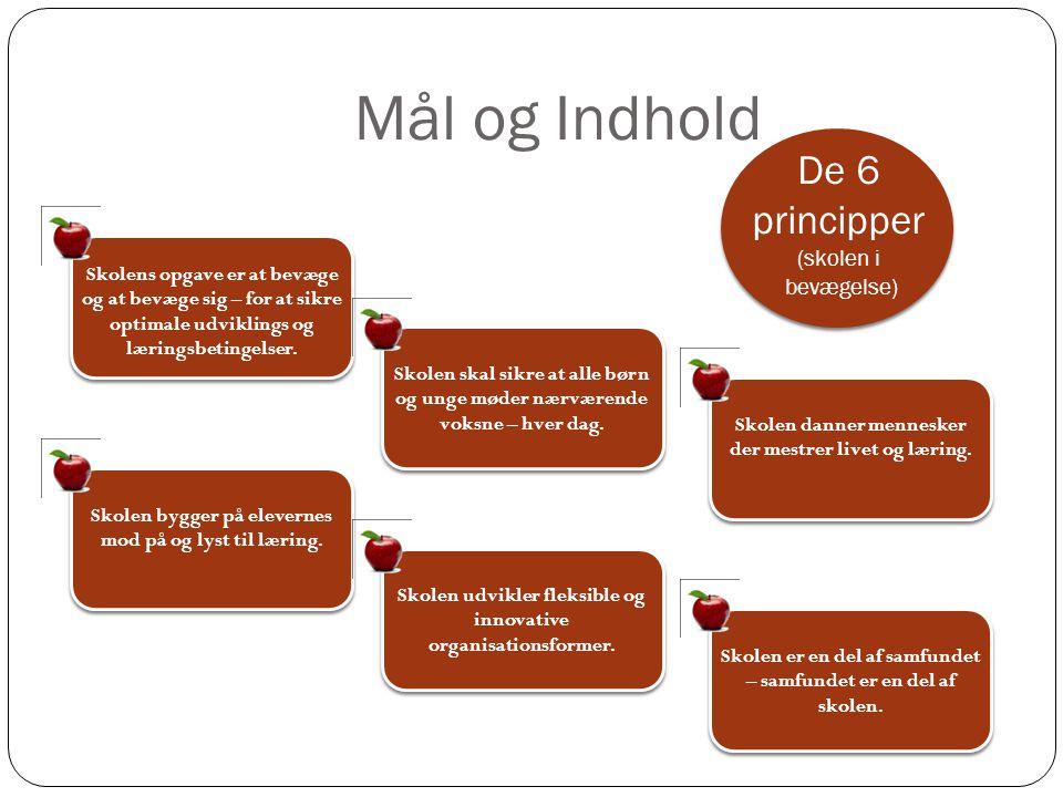 Mål og Indhold De 6 principper (skolen i bevægelse)