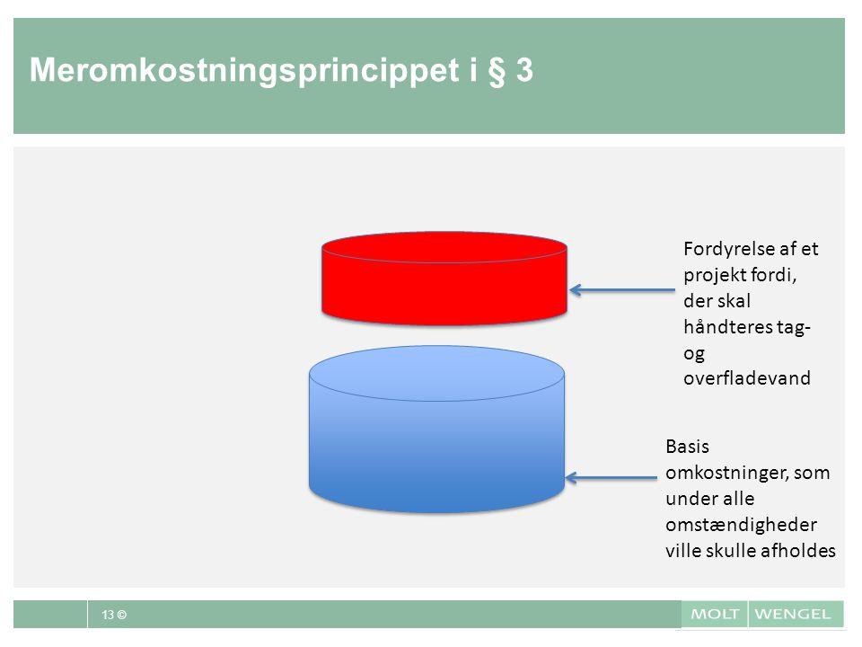Meromkostningsprincippet i § 3