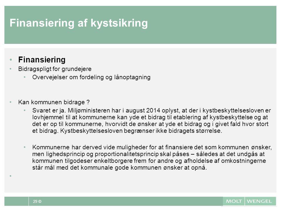 Finansiering af kystsikring