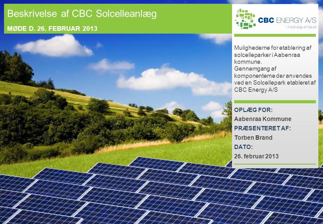 Mulighederne for etablering af solcelleparker i Aabenraa kommune.